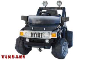 kids ride on black hummer style electric battery car emi sku