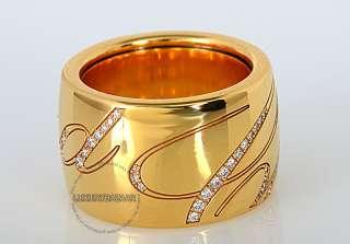 Chopard Chopardissimo 18K Yellow Gold Diamond Wide Band Revolving Ring