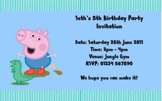Peppa Pig George Personalised Birthday invites Design 3