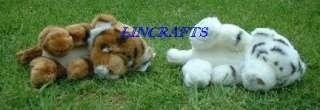 Sleeping Tiger Cub Plush Soft Toy by Dowman Soft Touch