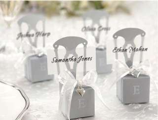 Our beautiful, high quality chair shaped favour boxes create a