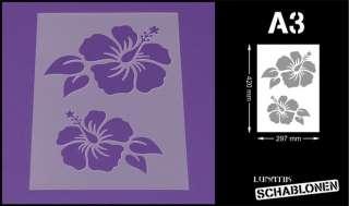 Schablone Din A3 Blume Hibiskus Blüte   LF51