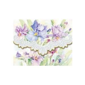 Purple Iris   Blank Note Card Set 10 Ct Carol Wilson