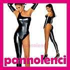 overall vestito tutina donna nero effetto wet dl 239 £