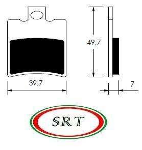 Pastiglie freni BETA Ark AC LC ITALJET Formula 50 125