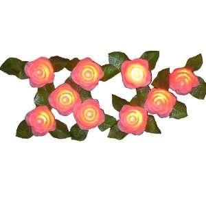 Kurt Adler UL1414P Pink Rose Light Set, 10 Light Home