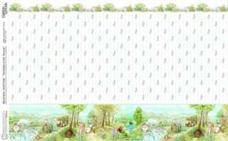 DOLLS HOUSE WOODLAND WALK BEATRIX POTTER WALLPAPER A3
