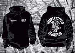 Sons of Anarchy SAMCRO Thick Hoodie in sizes up to 6XL