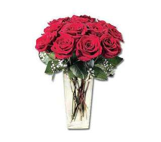 One Dozen Red Roses with Vase by ProFlowers   QVC