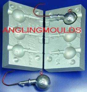 ROUND Jig 60 70 80g lead fishing mould mold bass sea