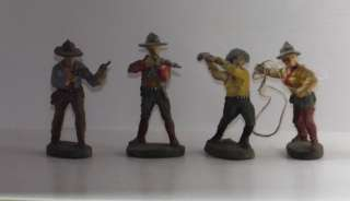 17 X ASSORTED ELASTOLIN COWBOYS INDIANS AND HORSES UNBOXED