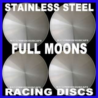 15 FULL MOON HOT ROD RACING DISC HUB CAPS WHEEL COVERS