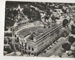 CPSM ORANGE VUE AERIENNE THEATRE ANTIQUE VAUCLUSE 84 carte postale