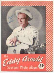 1950 Eddy Arnold Souvenir Photo Album