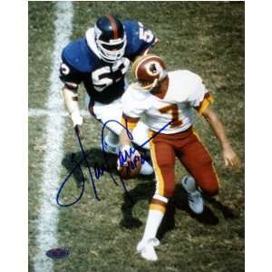 Harry Carson New York Giants   About To Sack Theisman   Autographed
