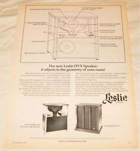 Vintage Leslie DVX 580 570 Speakers PRINT AD 1974