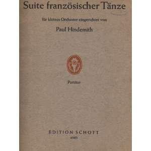 ).  eingerichtet von P. Hindemith. Partitur Paul Hindemith Books