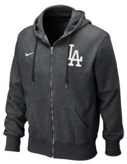Los Angeles Dodgers Nike Heather Black Seasonal Full Zip Hooded