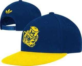 Michigan Wolverines adidas Originals Vault Logo Snapback Hat