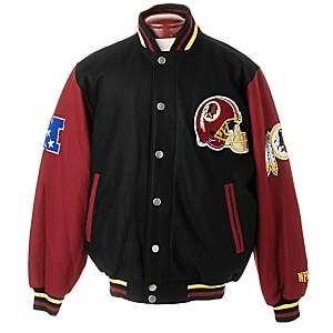 NFL Wool Varsity Jacket by G III   Redskins at HSN