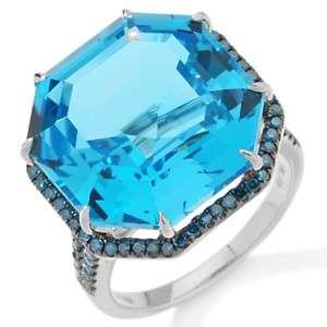 Jewelry with Carol Brodie 17.45ct Swiss Blue Topaz and Blue Diamond