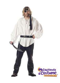 Buccaneer Pirate Man Shirt for  Cheap Pirate Halloween Costume for