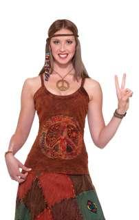 Hippie Peace Sign Tank Top   Hippie Costume Accessories