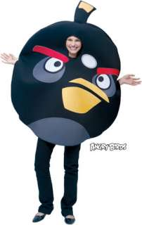 costumes in shopping cart angry birds black child