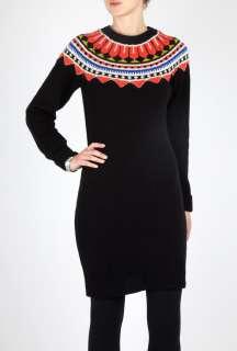 Chunky Fair Isle Knit Dress by Paul by Paul Smith   Black   Buy