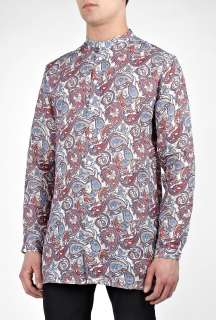 Pretty Green  Vintage Paisley Linen Kaftan Shirt by Pretty Green
