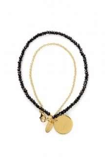London  Black Spinel P&L Wisdom Baby Charm Bracelet by Assya London