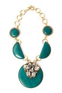 Anton Heunis  Big Disc Crystal Brooch Necklace by Anton Heunis