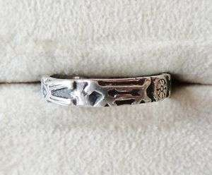 Vintage Sterling Silver Native American Symbols Ring
