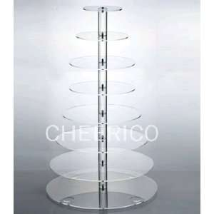 Large Round Maypole Wedding Acrylic Cupcake Stand Tree Tower Cup Cake