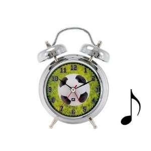 SOCCER ball retro musical ALARM CLOCK home decor