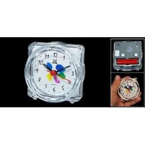 Clear White Plastic Casing House Light Alarm Clock
