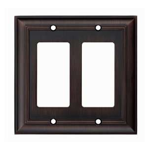 allen + roth Oil Rubbed Bronze Decorator Rocker Wall Plate Z1768RR