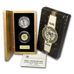 Anniversary of the End of WWII Gold & Silver coin Set Toys & Games