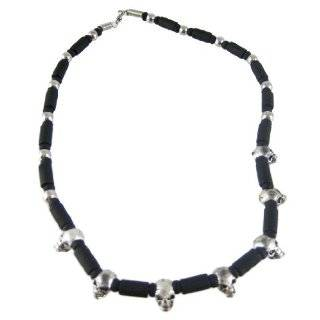 Faux Leaher Cord Yak Bone Skull Shape Necklace Jewelry