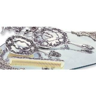 Silver plated Antique Three Piece Dresser Set Jewelry