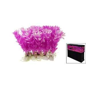 Plastic Purple Aquarium Plants Fish Tank Ornament Pet Supplies