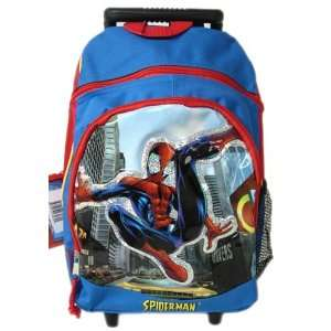 Marvel Comics Spiderman Kids Size Rolling Backpack: Toys & Games