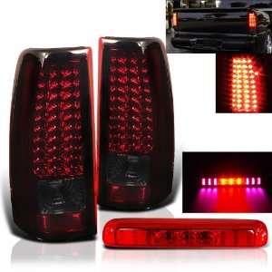 Eautolight 03 06 Silverado Sierra Red LED Tail Lights+3rd Third Brake