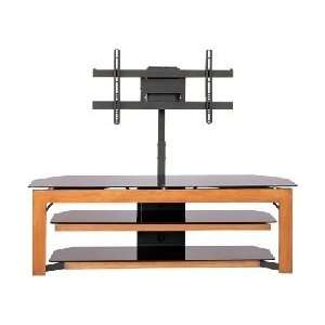 Black TV Stand with Plasma / LCD TV Mounting Brackets