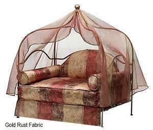 Canopy Pet Bed : Fabric DUSTY ROSE WITH DUSTY ROSE SHEER : Frame