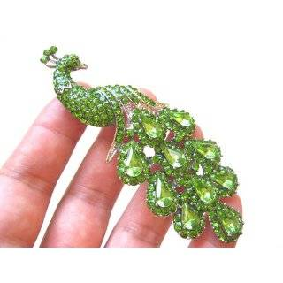 Phoenix Bird Topical Color Enamel Clear Crystal Rhinestones Pin Brooch