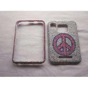 Peace BLING DIAMOND COVER CASE 4 Motorola Charm Cell