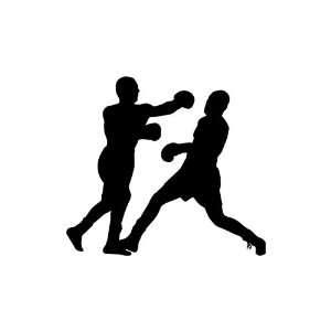 Boxing Large 10 Tall BLACK vinyl window decal sticker