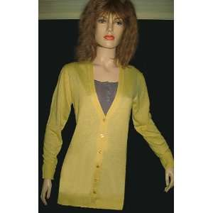 Victorias Secret Yellow Boyfriend Silk Cashmere Cardigan