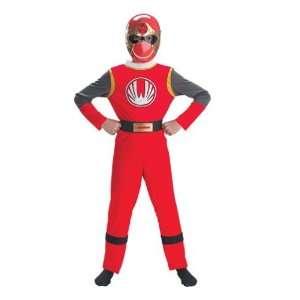 Power Ranger Costume Boy Red   Child 7 10 Toys & Games